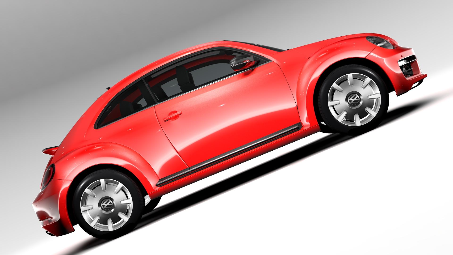 vw beetle turbo 2017 3d model 3ds max fbx c4d lwo ma mb hrc xsi obj 221665
