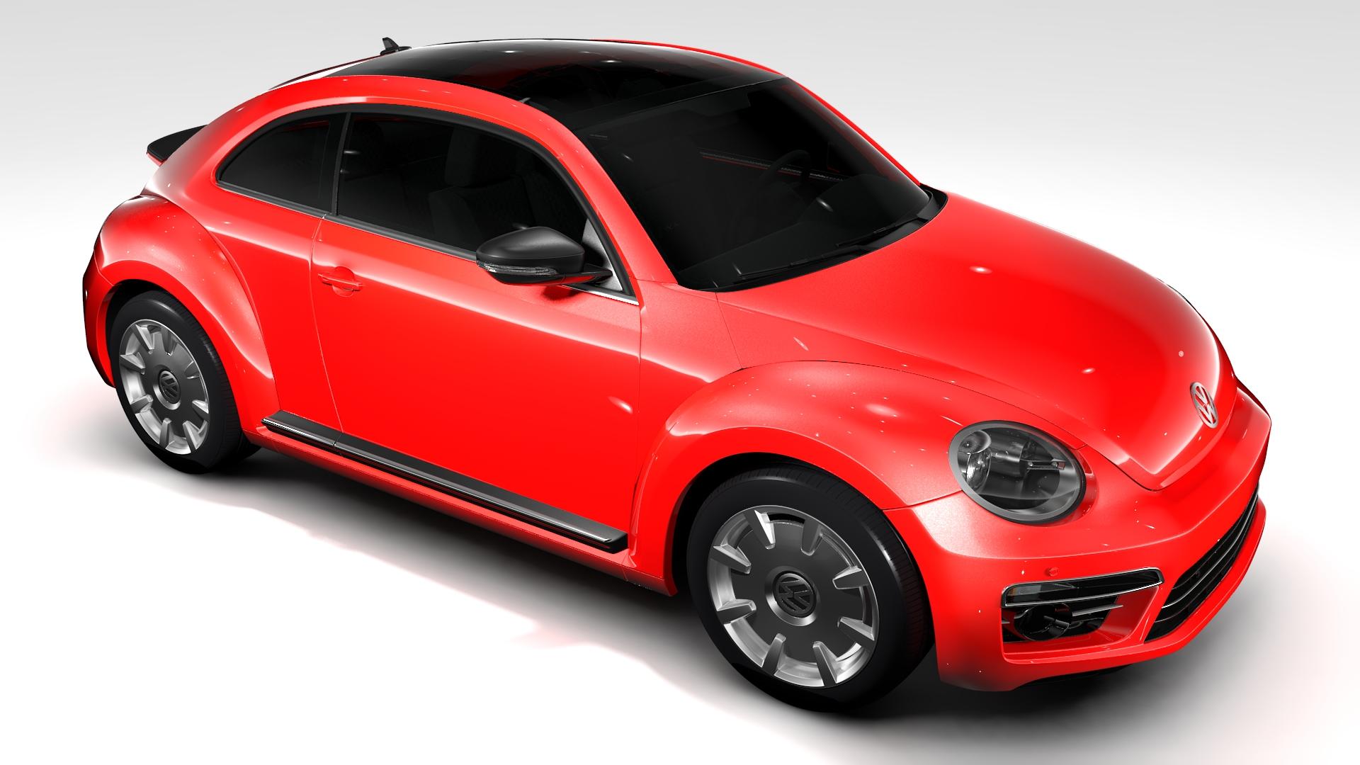vw beetle turbo 2017 3d model 3ds max fbx c4d lwo ma mb hrc xsi obj 221667
