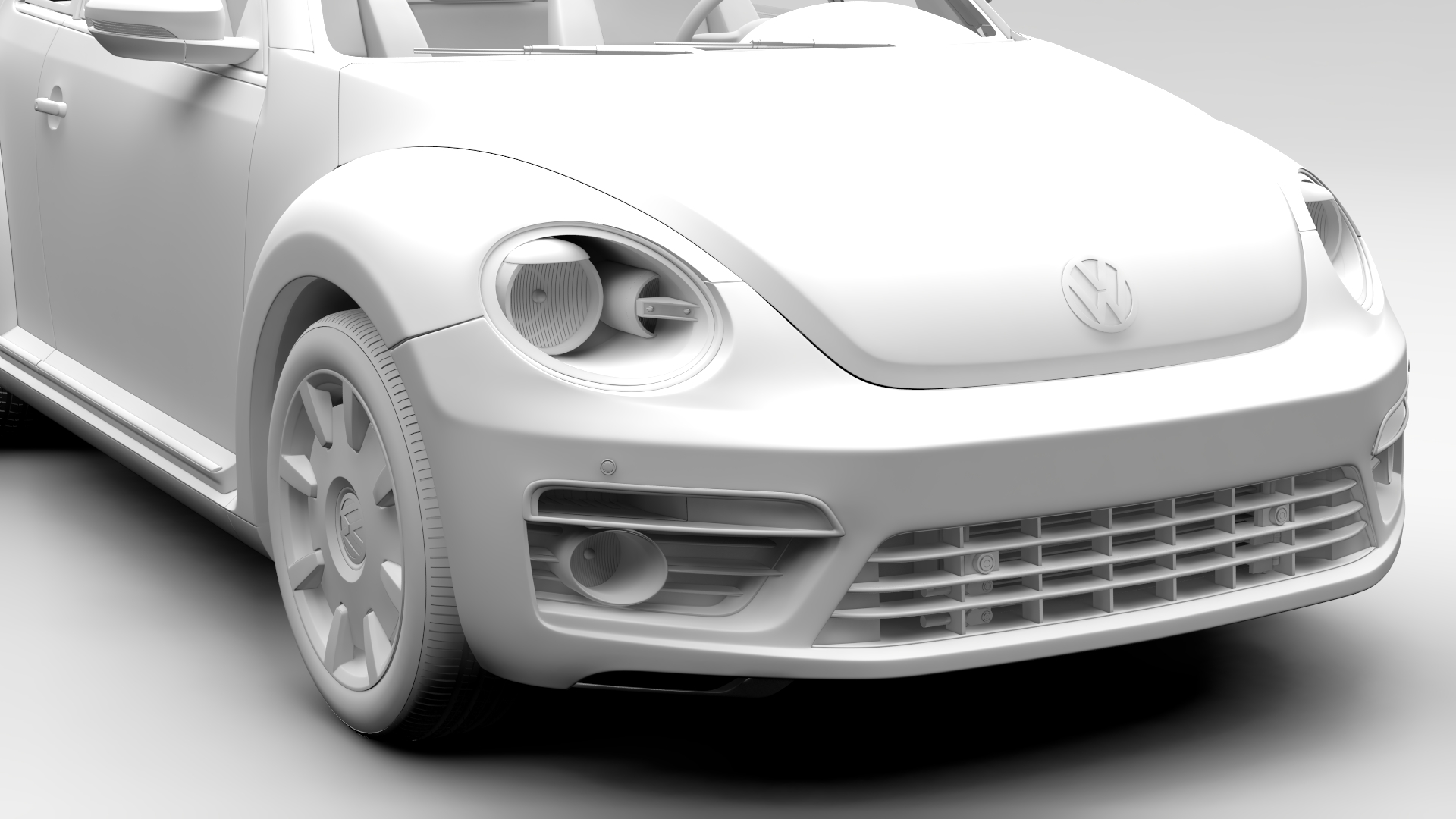 vw beetle turbo 2017 3d model 3ds max fbx c4d lwo ma mb hrc xsi obj 221670