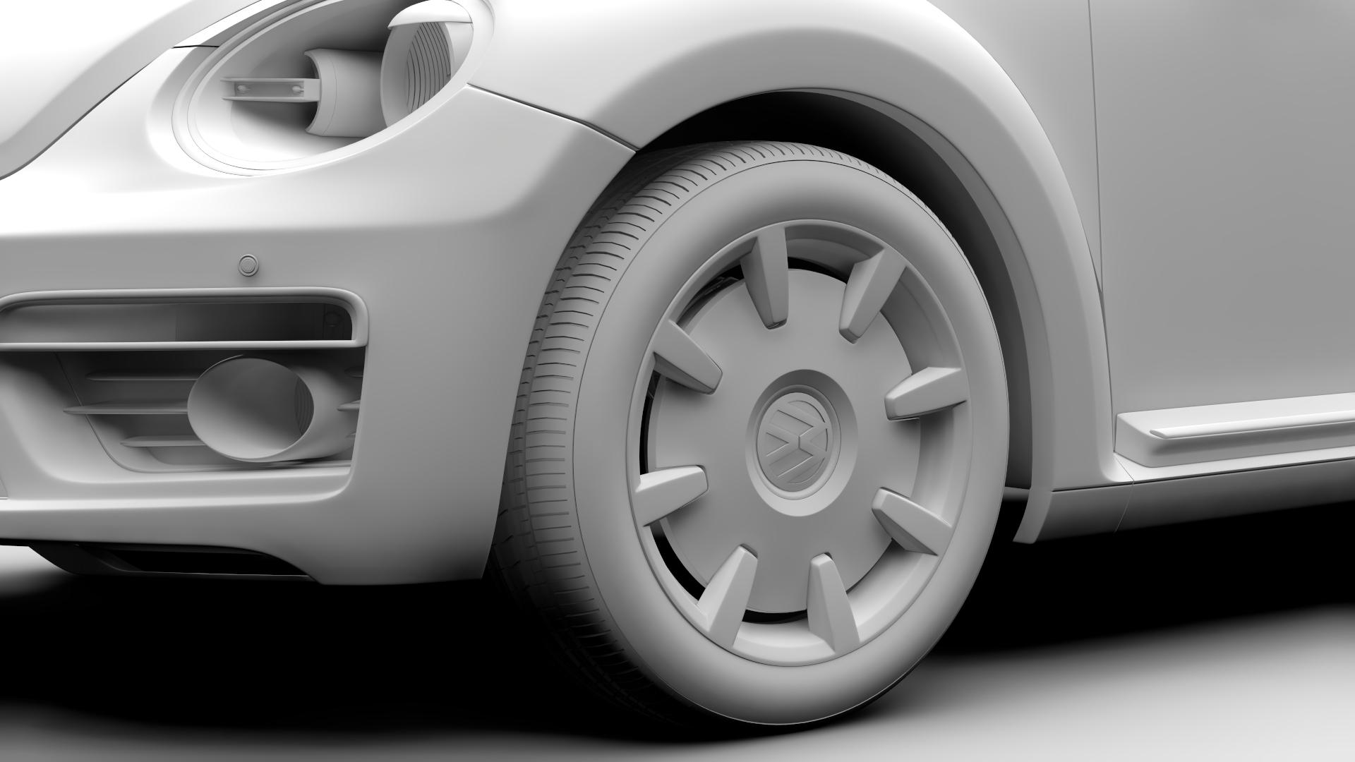 vw beetle turbo 2017 3d model 3ds max fbx c4d lwo ma mb hrc xsi obj 221672