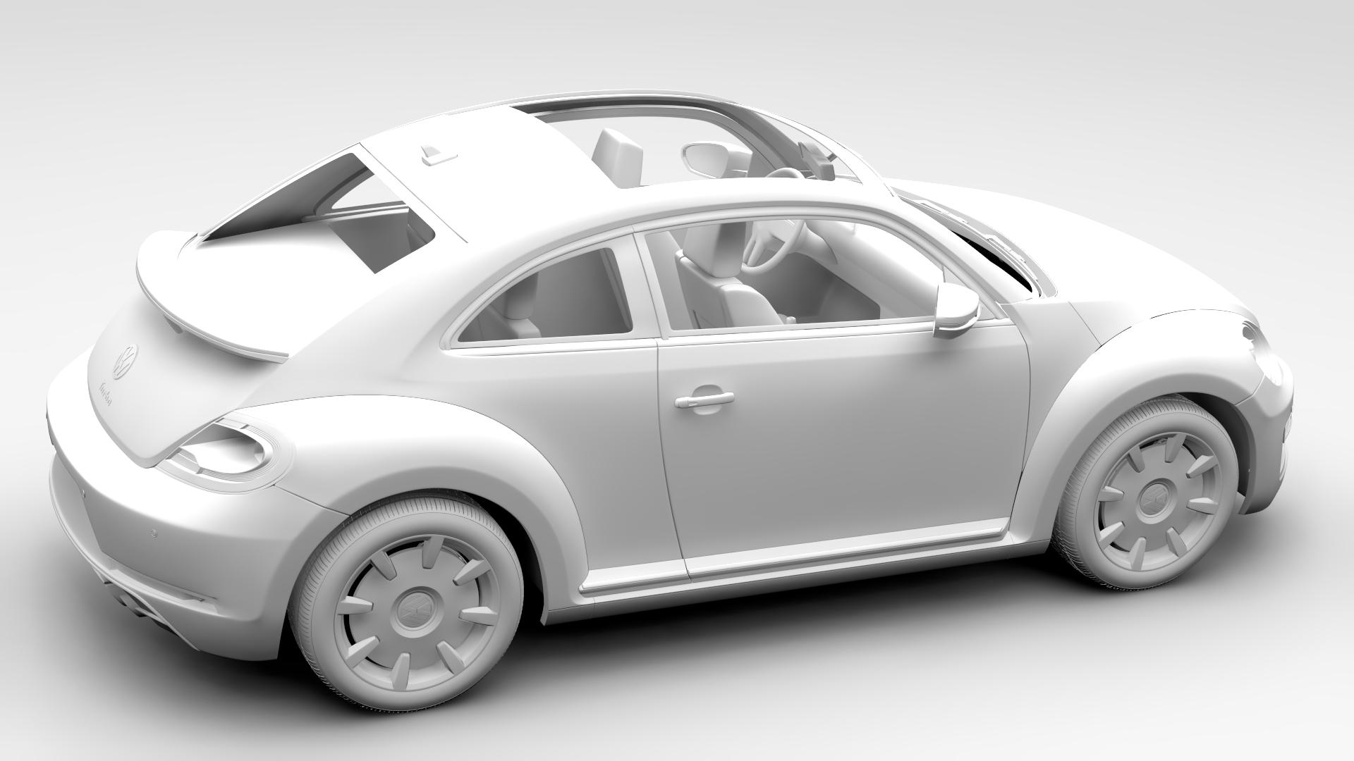 vw beetle turbo 2017 3d model 3ds max fbx c4d lwo ma mb hrc xsi obj 221673