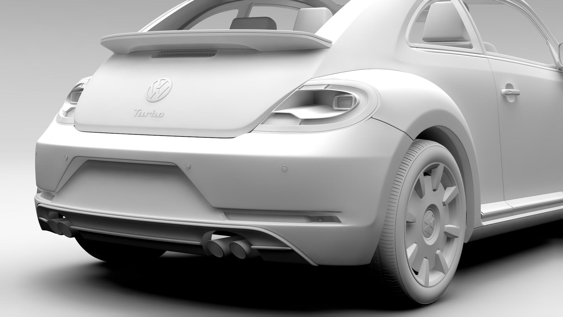 vw beetle turbo 2017 3d model 3ds max fbx c4d lwo ma mb hrc xsi obj 221674