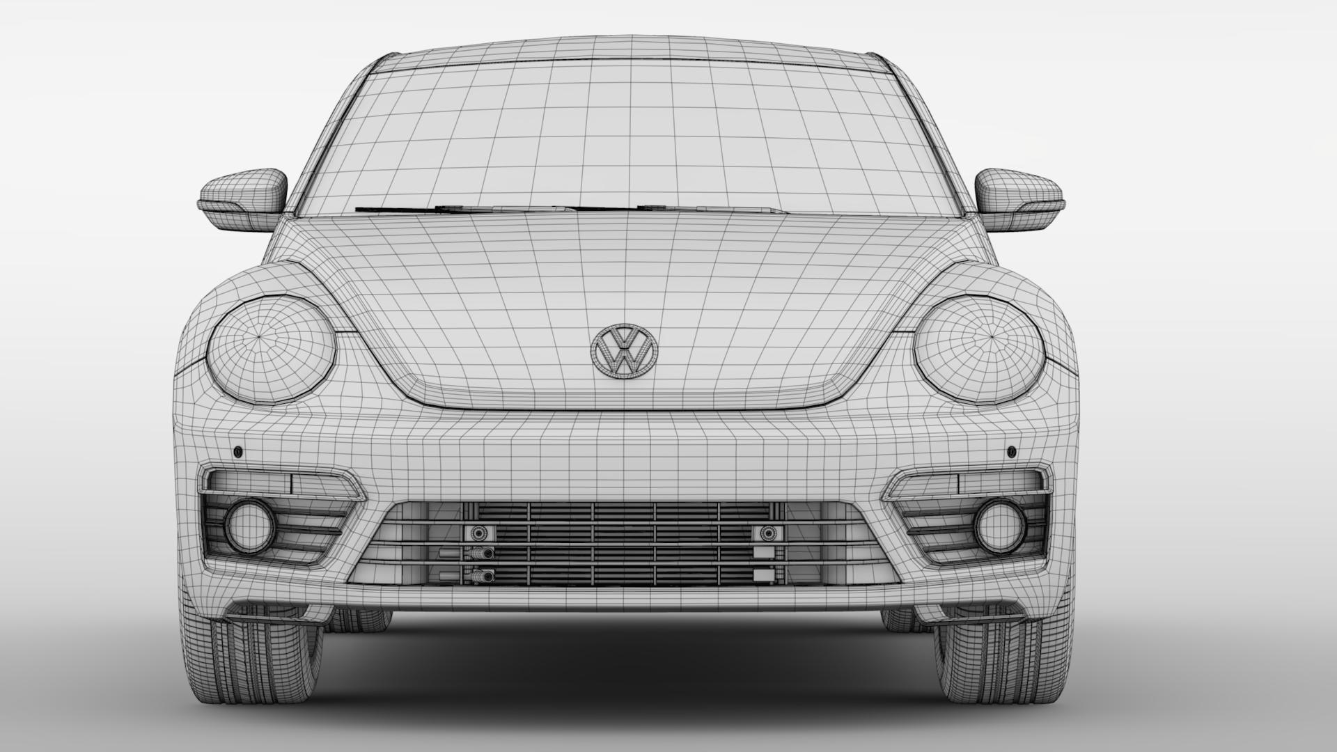 vw beetle turbo 2017 3d model 3ds max fbx c4d lwo ma mb hrc xsi obj 221675