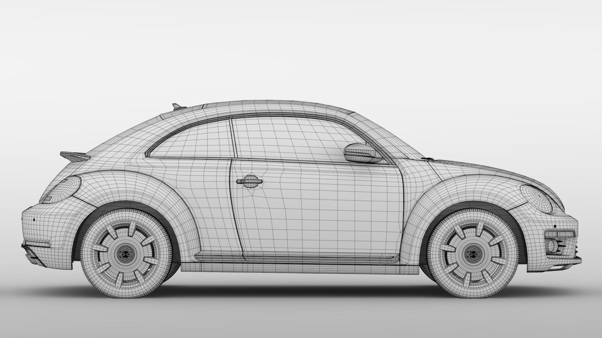 vw beetle turbo 2017 3d model 3ds max fbx c4d lwo ma mb hrc xsi obj 221676
