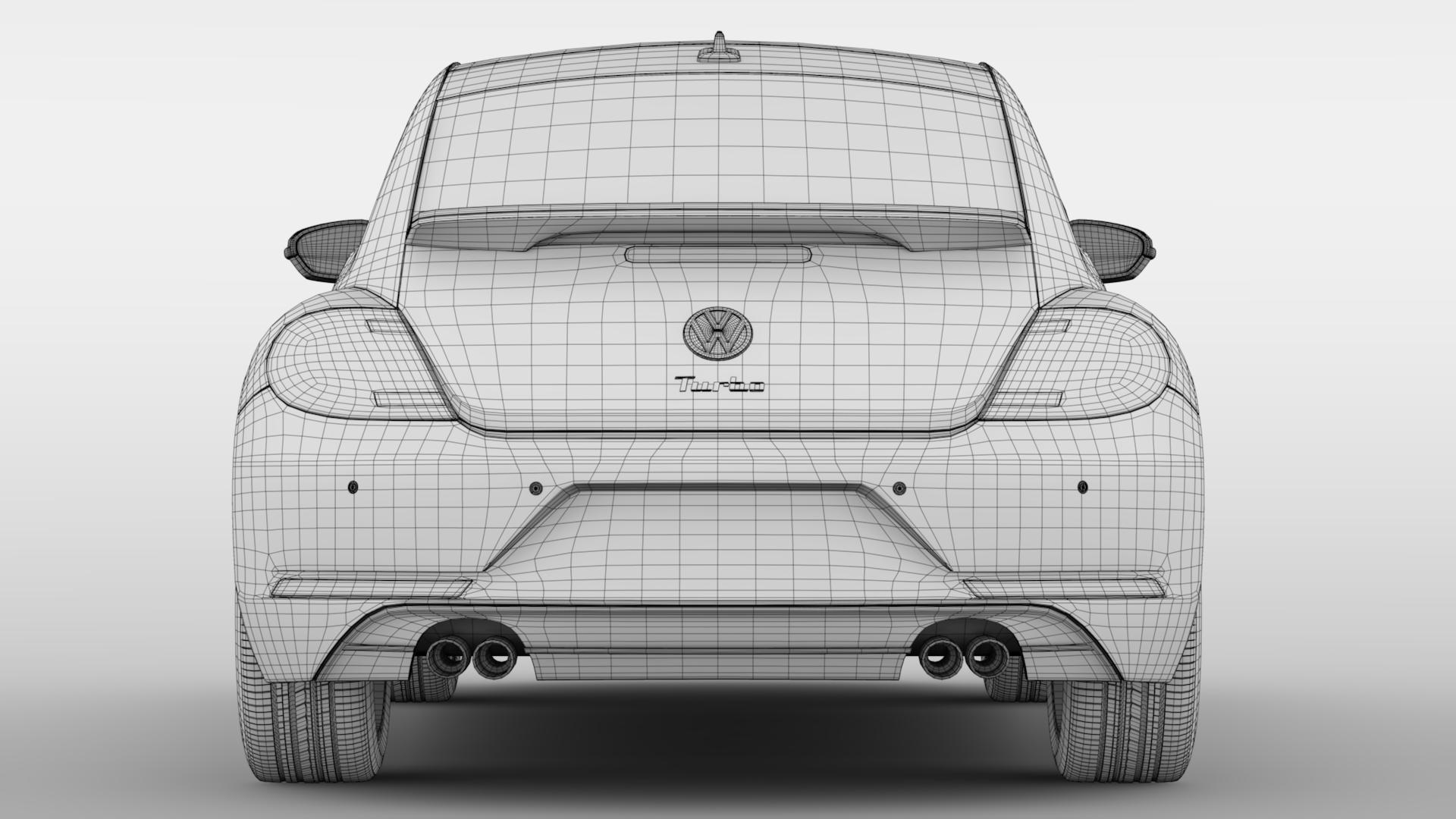 vw beetle turbo 2017 3d model 3ds max fbx c4d lwo ma mb hrc xsi obj 221677