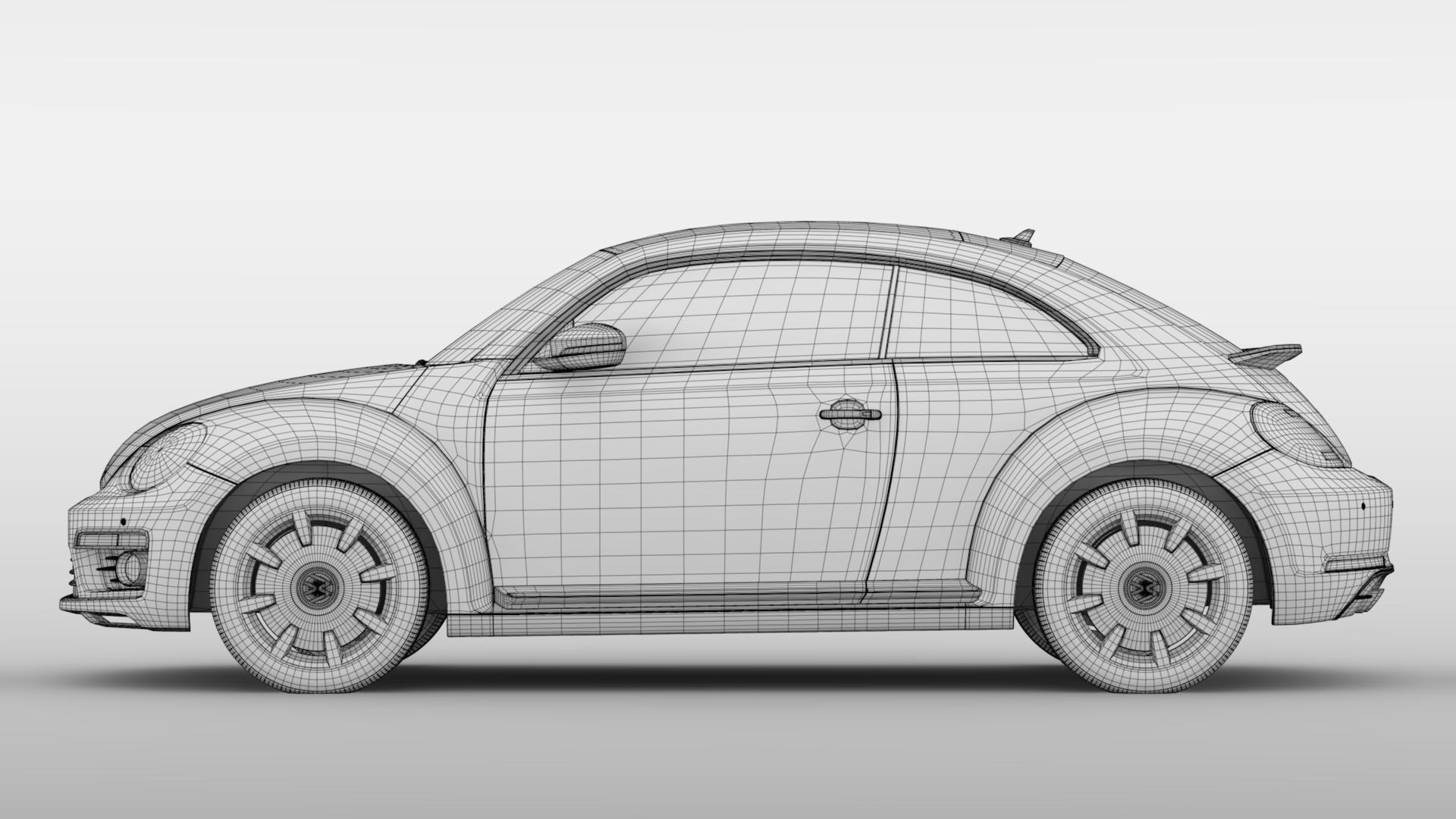 vw beetle turbo 2017 3d model 3ds max fbx c4d lwo ma mb hrc xsi obj 221678