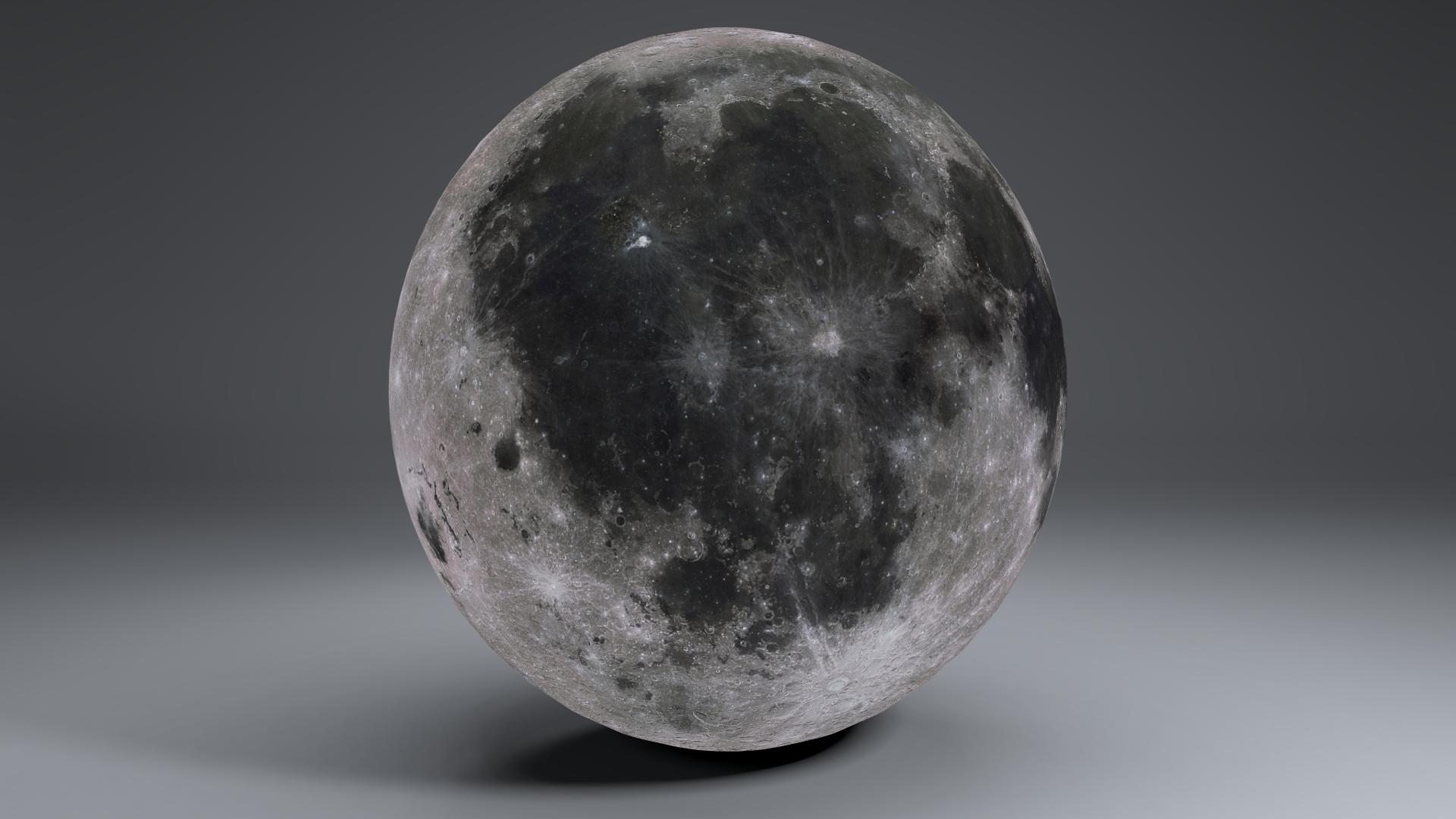 MoonGlobe 4k 3d model 3ds fbx blend dae obj 221754