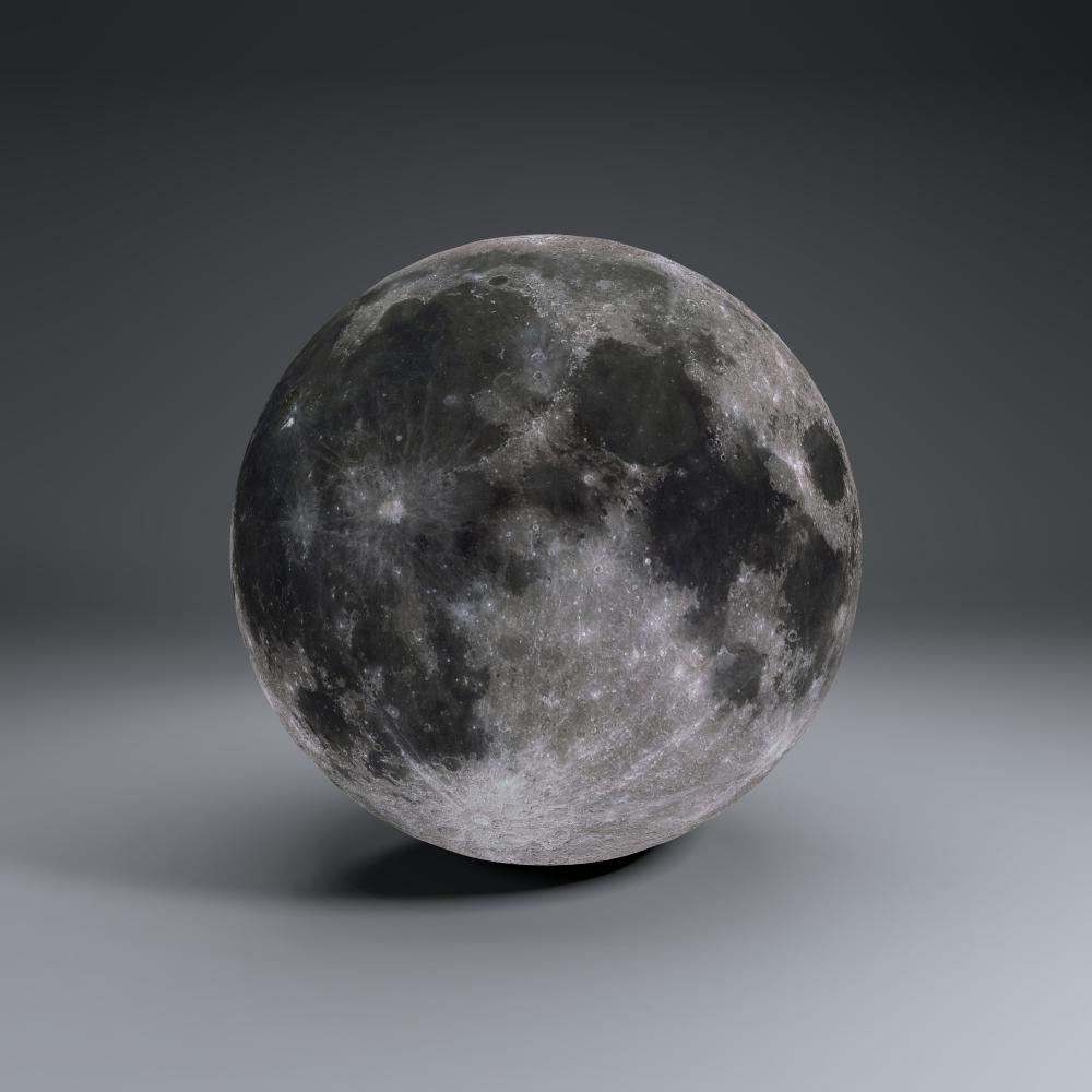 MoonGlobe 4k 3d model 3ds fbx blend dae obj 221756