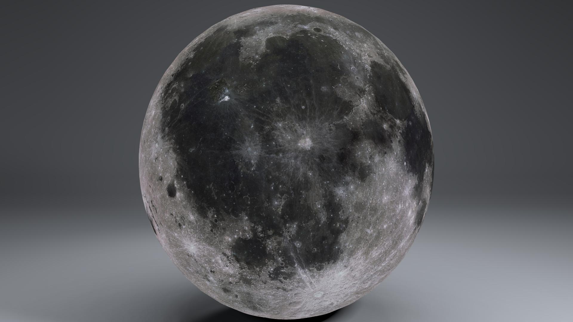 MoonGlobe 4k 3d model 3ds fbx blend dae obj 221757
