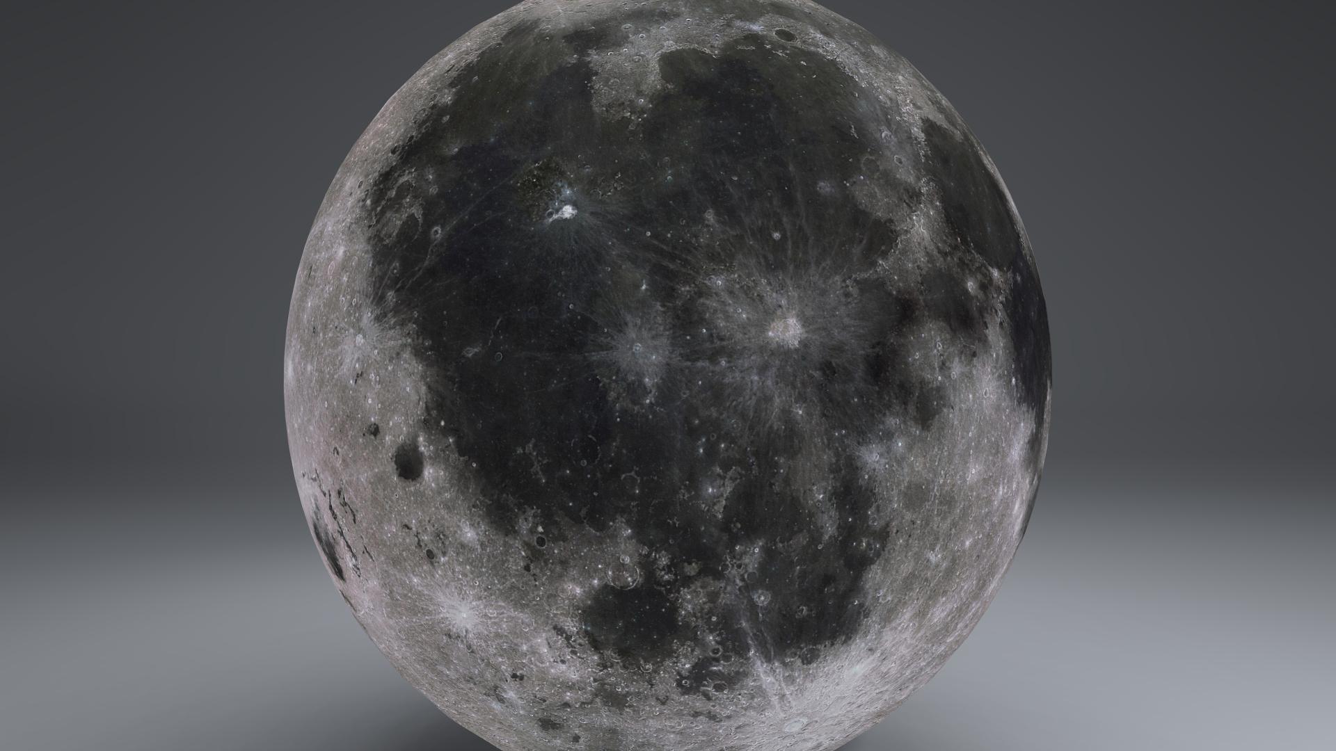 MoonGlobe 4k 3d model 3ds fbx blend dae obj 221758