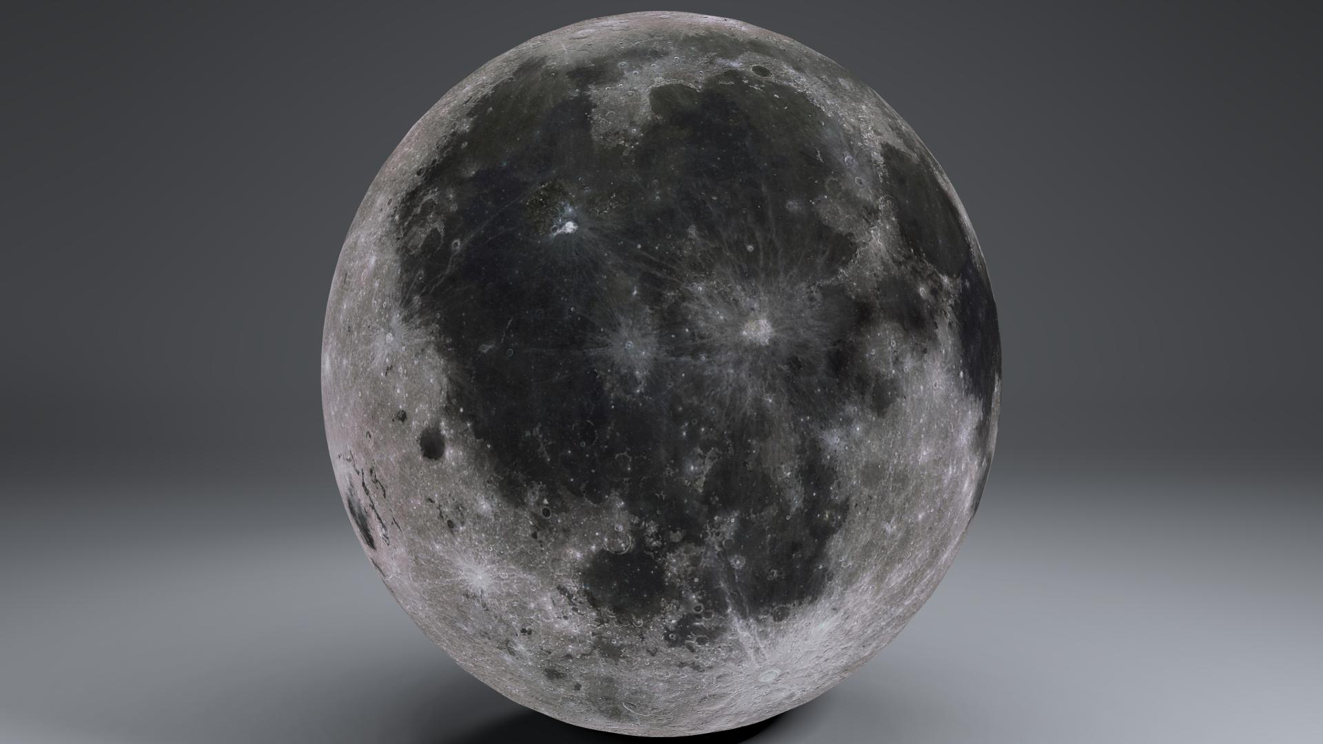MoonGlobe 4k 3d model 3ds fbx blend dae obj 221759