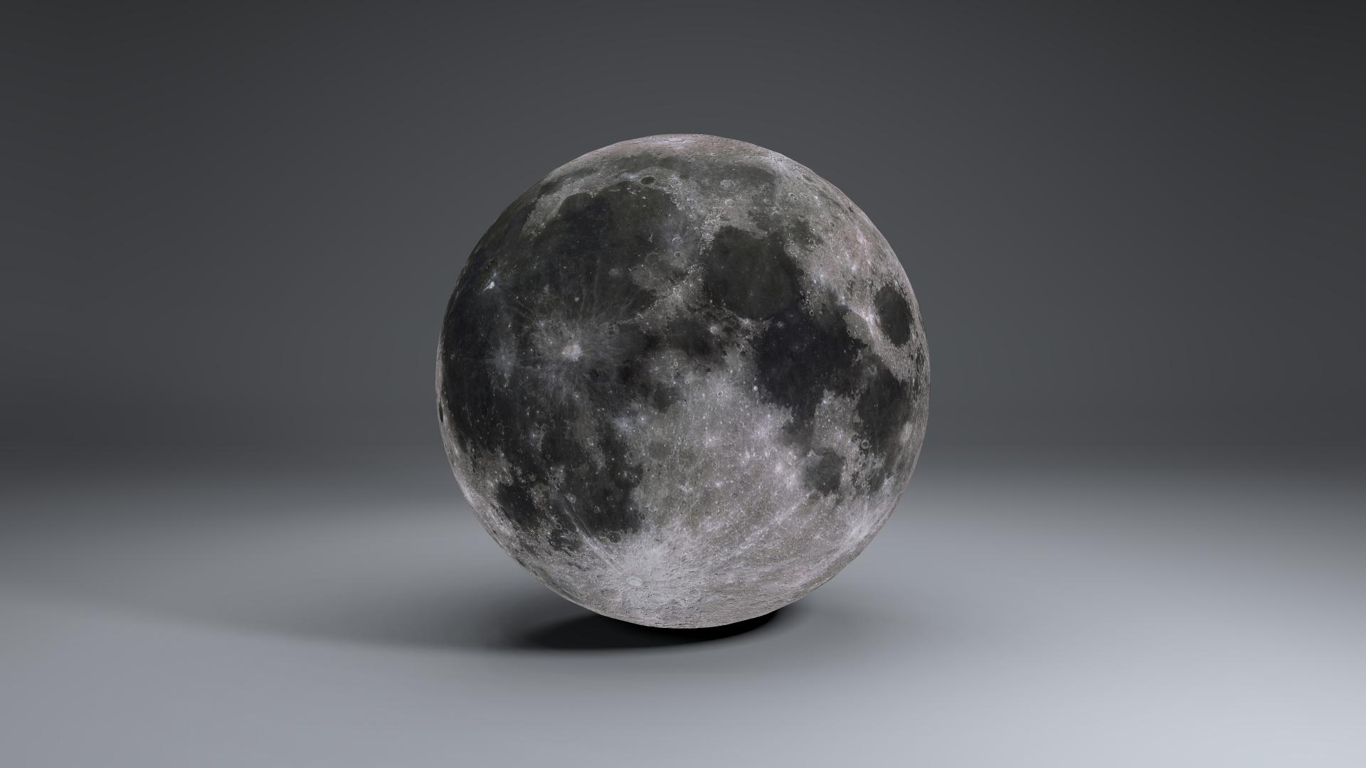 MoonGlobe 4k 3d model 3ds fbx blend dae obj 221760