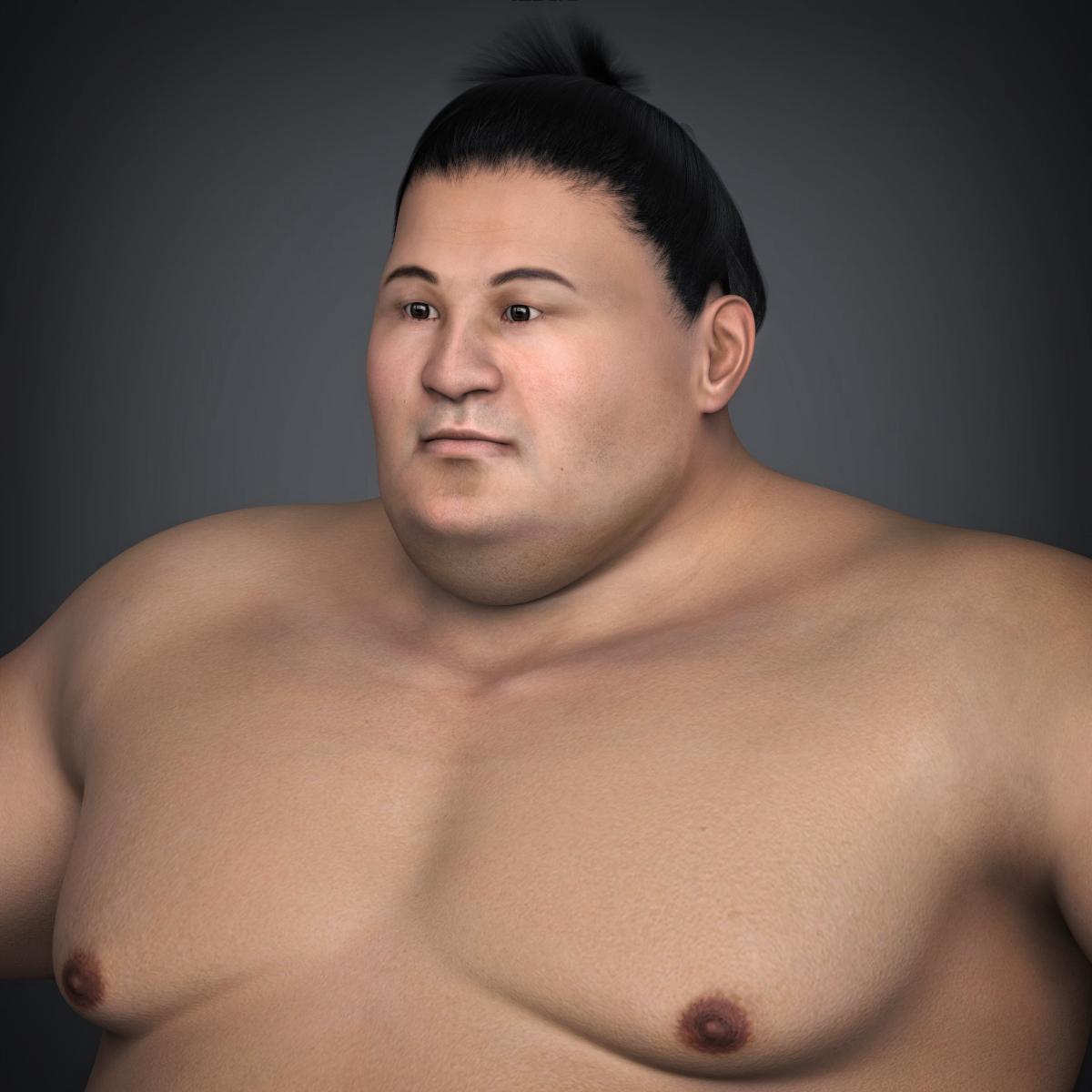 Realistic Japanese Sumo 3d model max fbx c4d ma mb  obj 221762