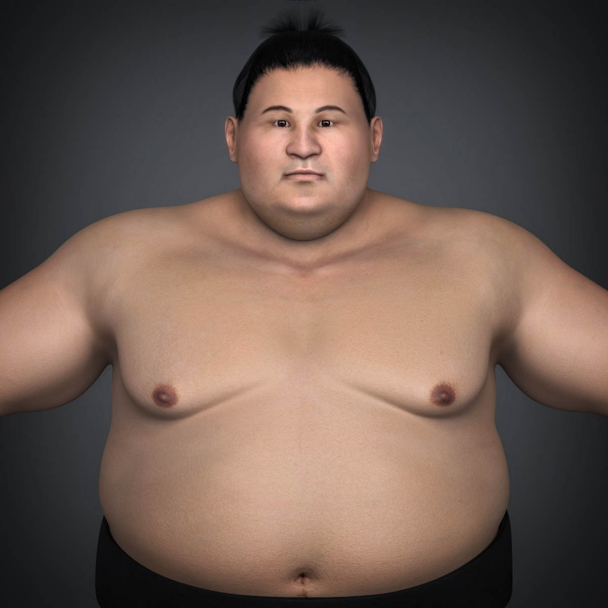 realistic japanese sumo 3d model max fbx c4d ma mb texture obj 221763