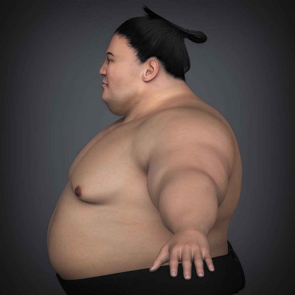 realistic japanese sumo 3d model max fbx c4d ma mb texture obj 221764