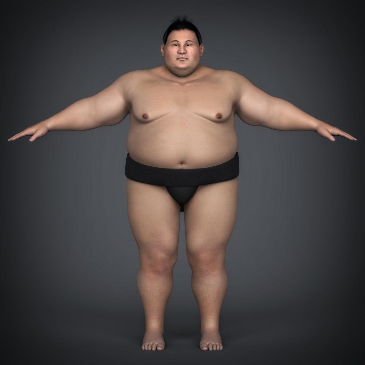realistic japanese sumo 3d model max fbx c4d ma mb texture obj 221767