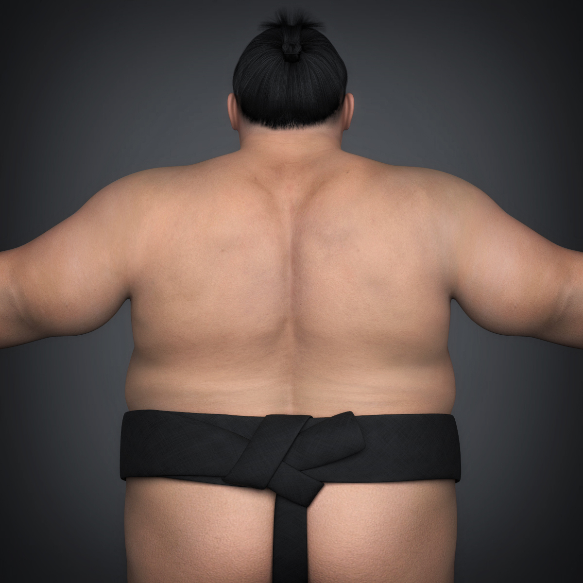 realistic japanese sumo 3d model max fbx c4d ma mb texture obj 221769