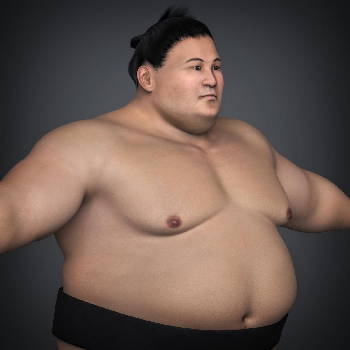 realistic japanese sumo 3d model max fbx c4d ma mb texture obj 221773