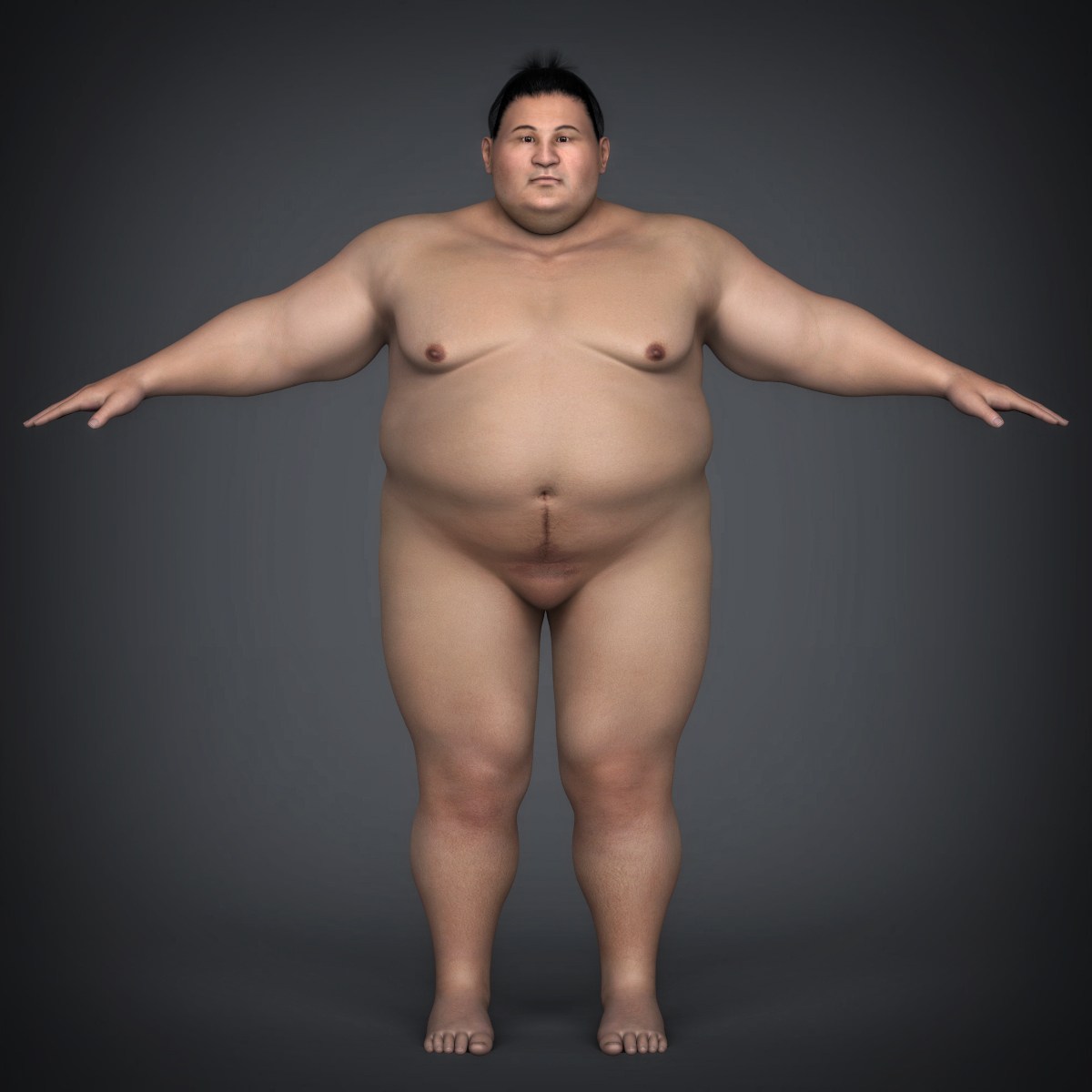 realistic japanese sumo 3d model max fbx c4d ma mb texture obj 221774