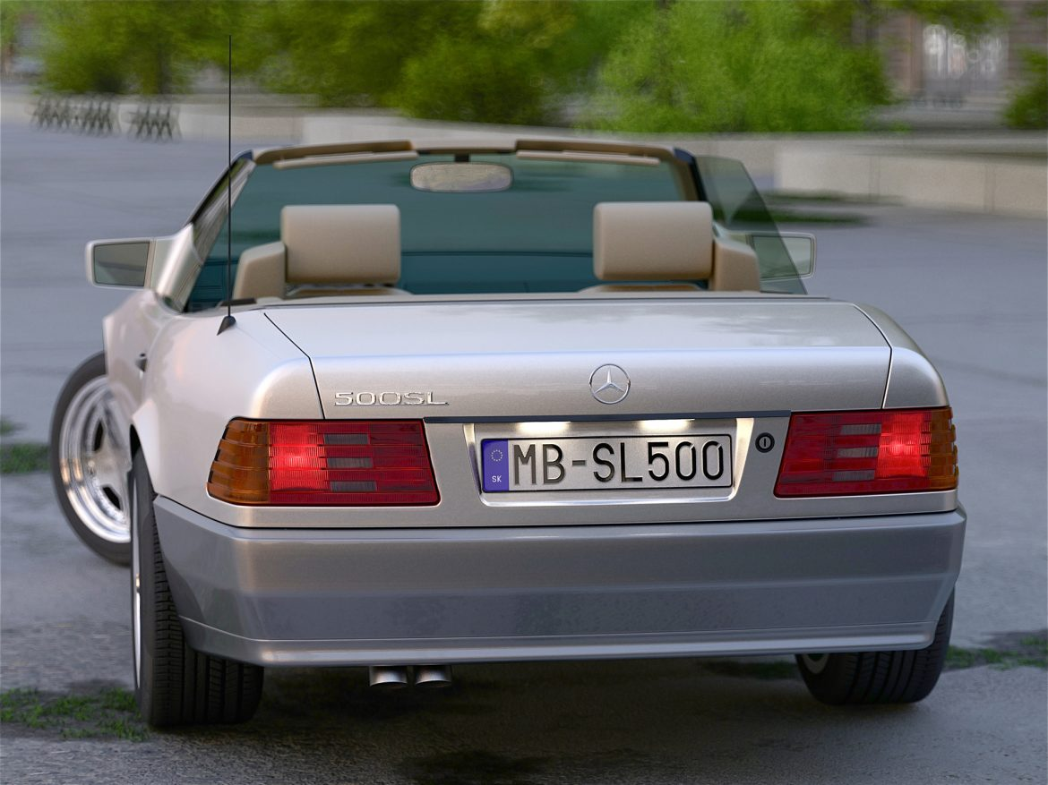 mercedes benz sl 1995 3d model 3ds max fbx c4d obj 221790
