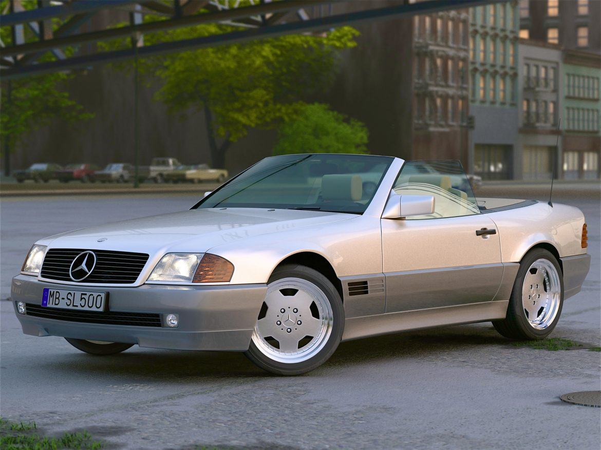 mercedes benz sl 1995 3d model 3ds max fbx c4d obj 221791