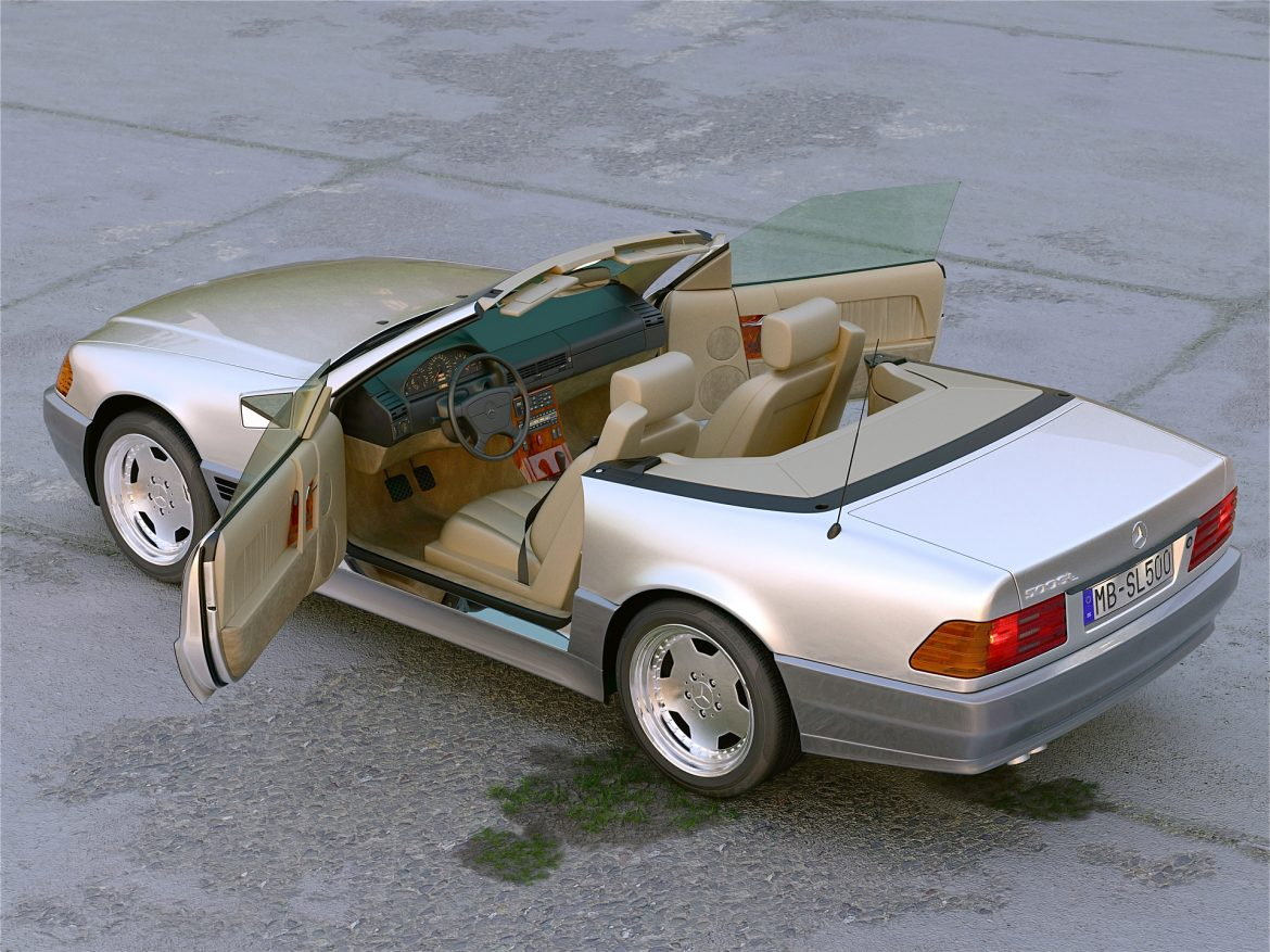 Mercedes Benz SL 1995 3d model 0