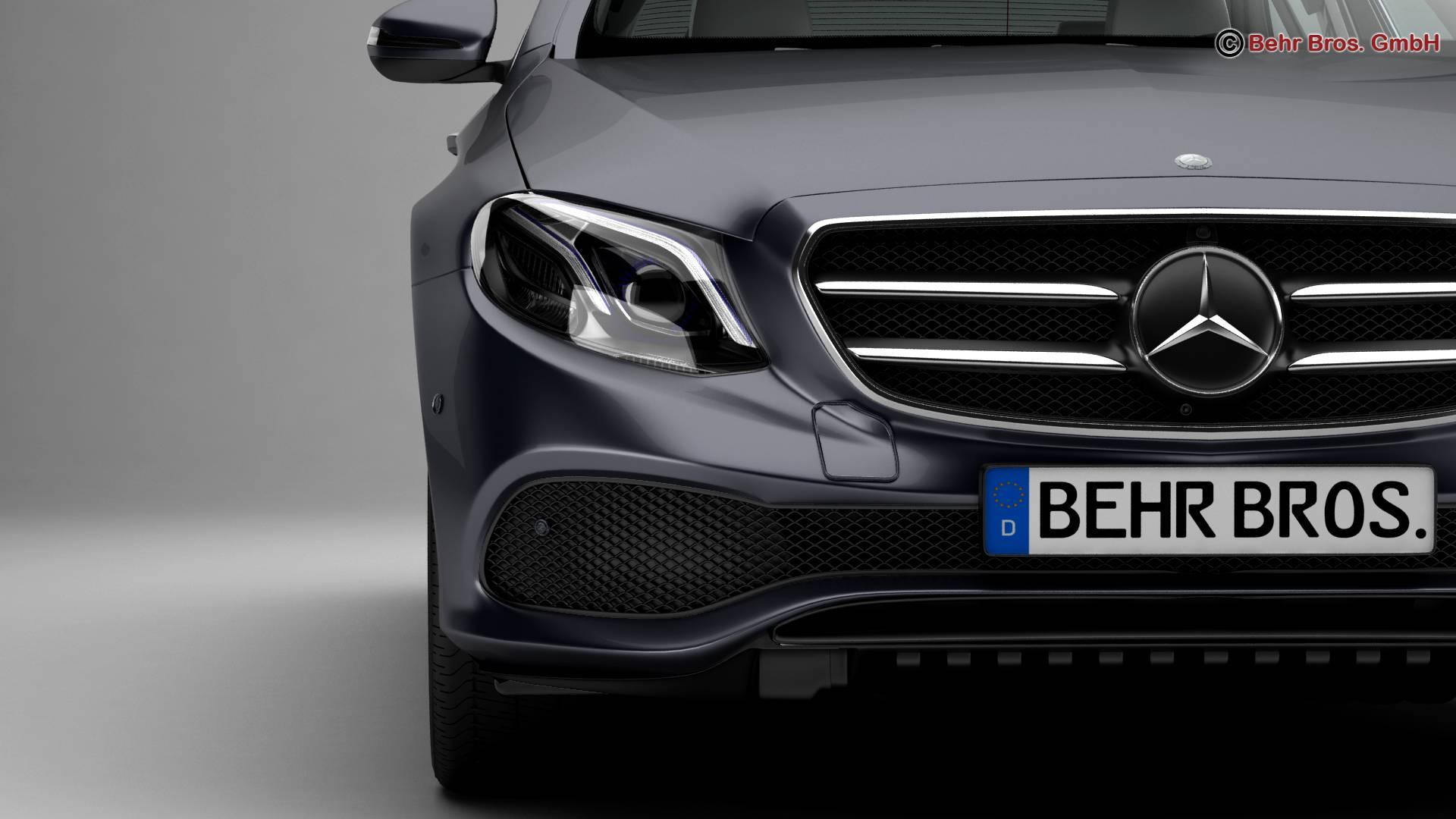mercedes e class avantgarde 2017 3d model 3ds max fbx c4d lwo ma mb obj 221806