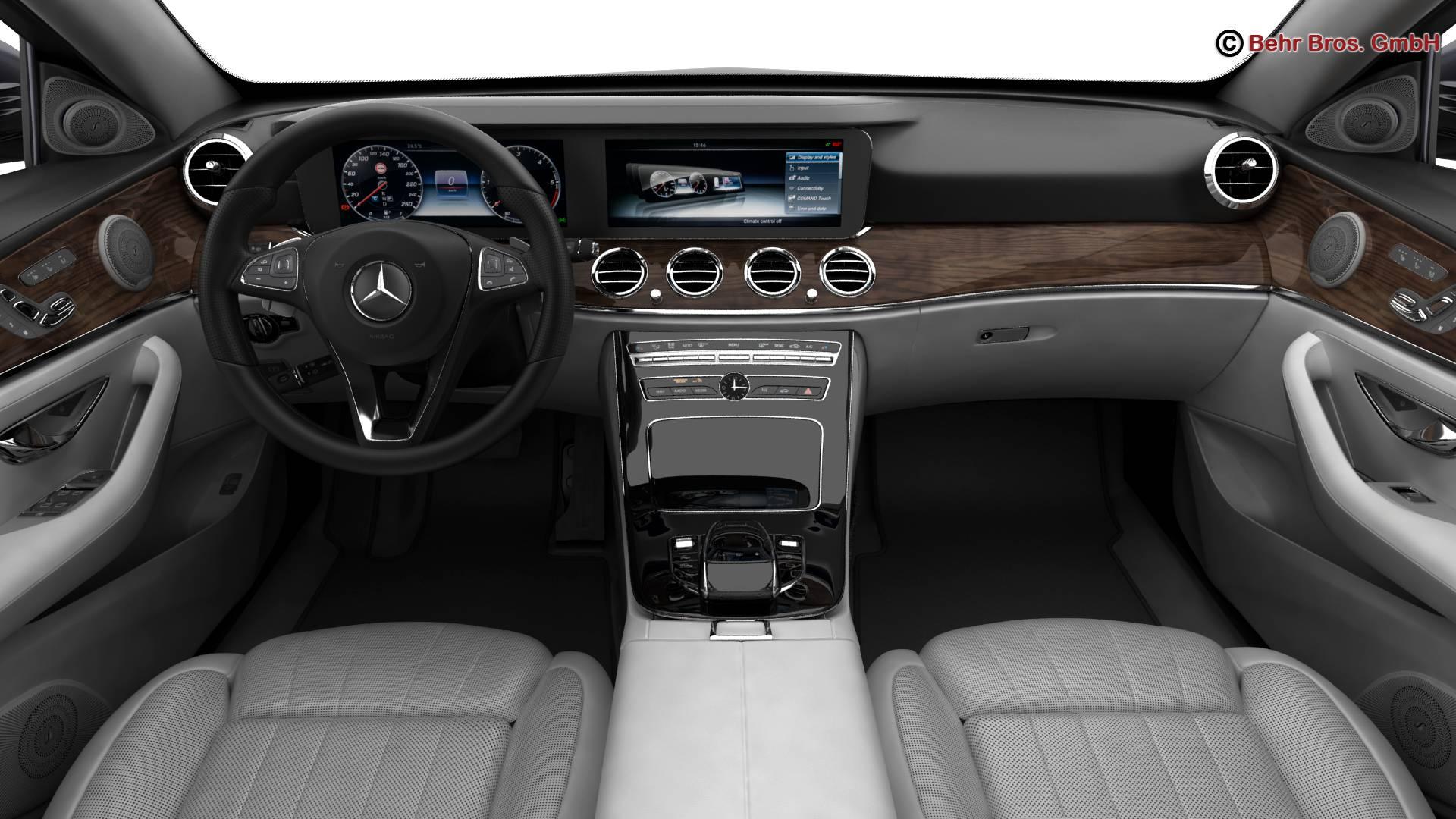 mercedes e class avantgarde 2017 3d model 3ds max fbx c4d lwo ma mb obj 221812