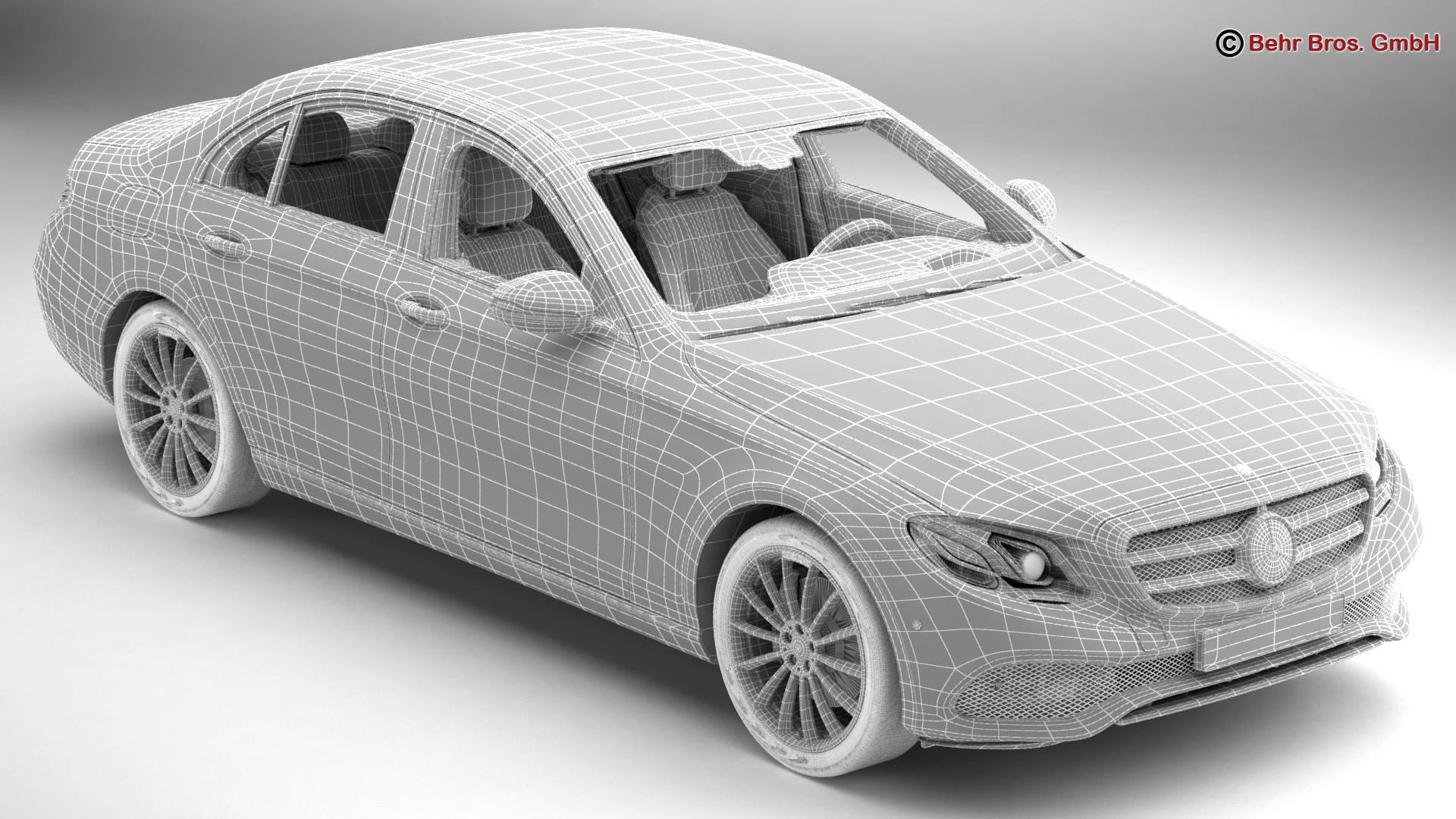 mercedes e class avantgarde 2017 3d model 3ds max fbx c4d lwo ma mb obj 221814