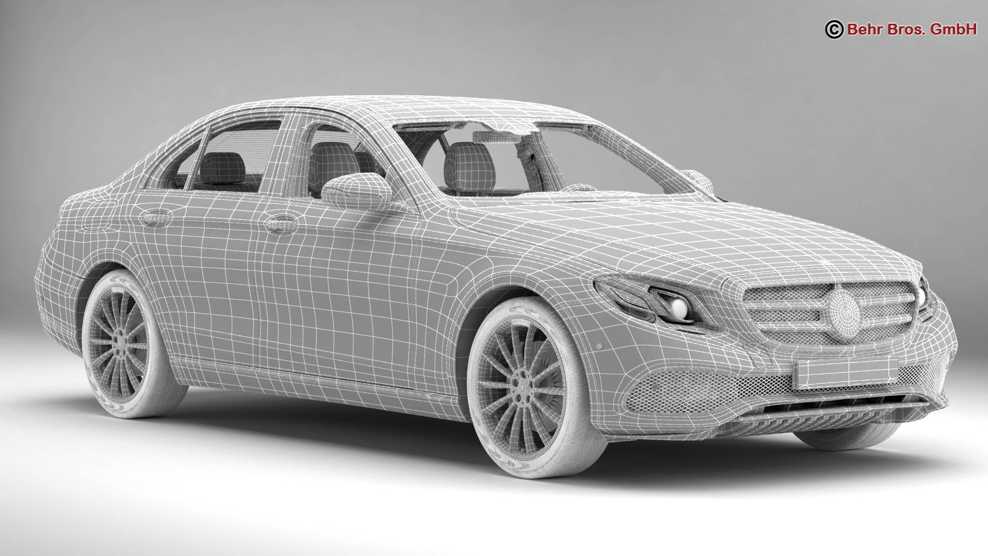 mercedes e class avantgarde 2017 3d model 3ds max fbx c4d lwo ma mb obj 221815