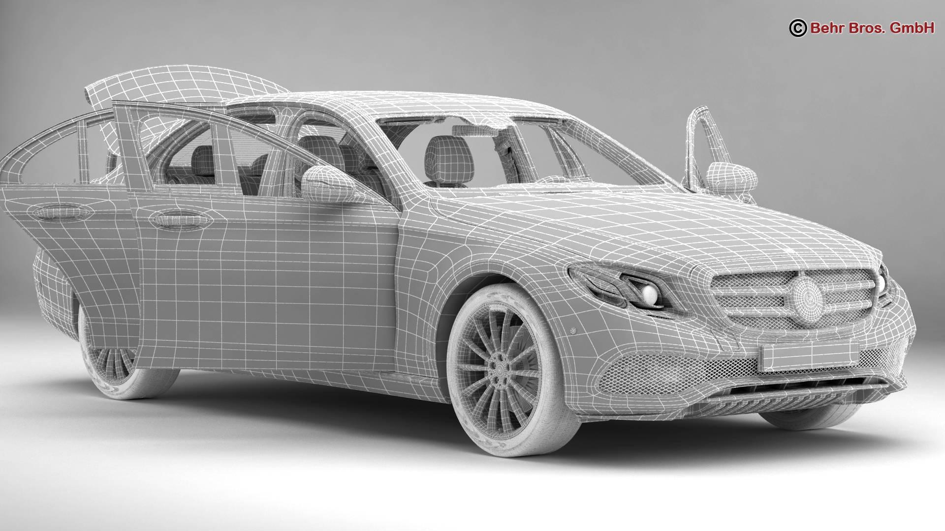 mercedes e class avantgarde 2017 3d model 3ds max fbx c4d lwo ma mb obj 221816