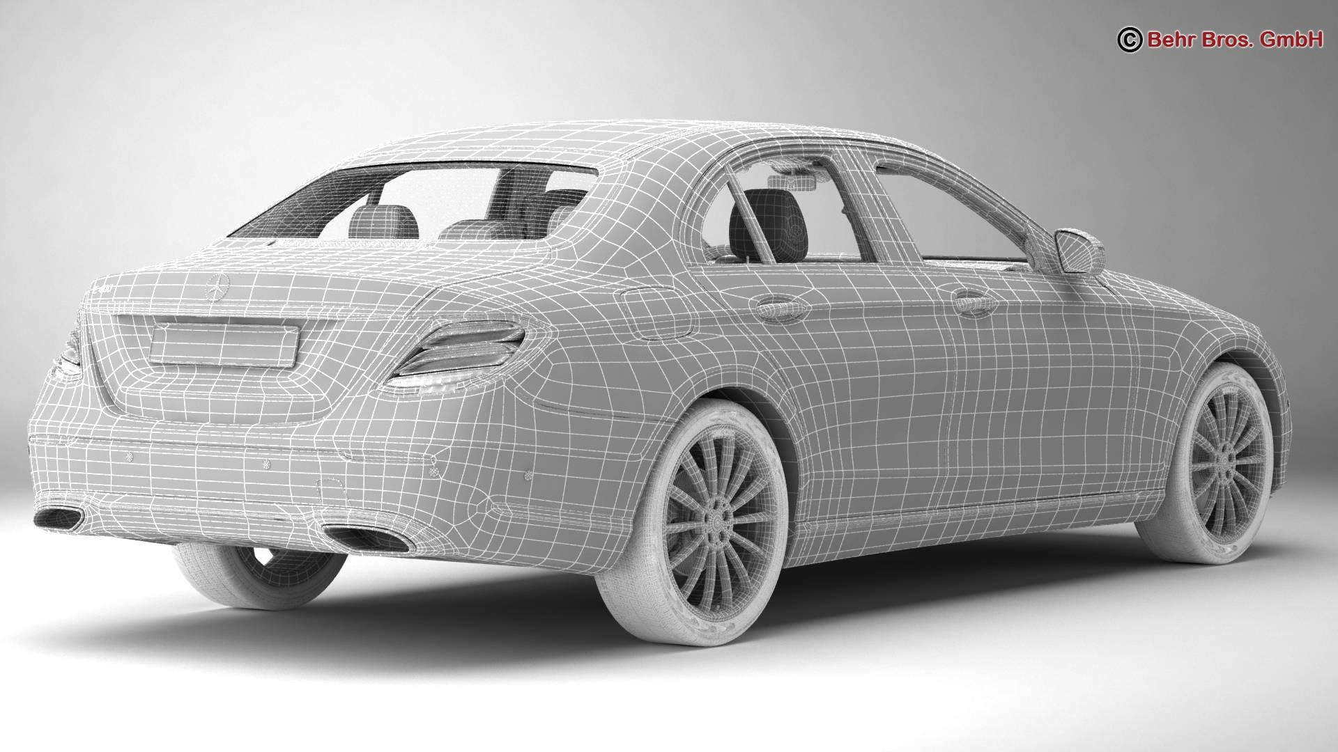 mercedes e class avantgarde 2017 3d model 3ds max fbx c4d lwo ma mb obj 221817