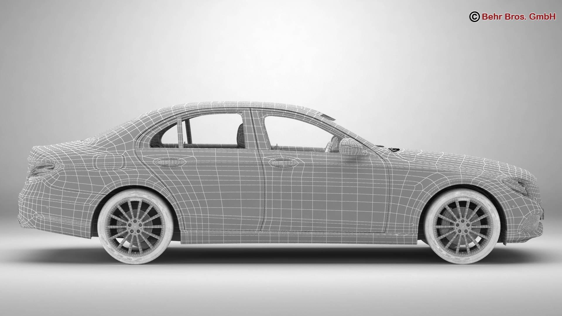 mercedes e class avantgarde 2017 3d model 3ds max fbx c4d lwo ma mb obj 221819