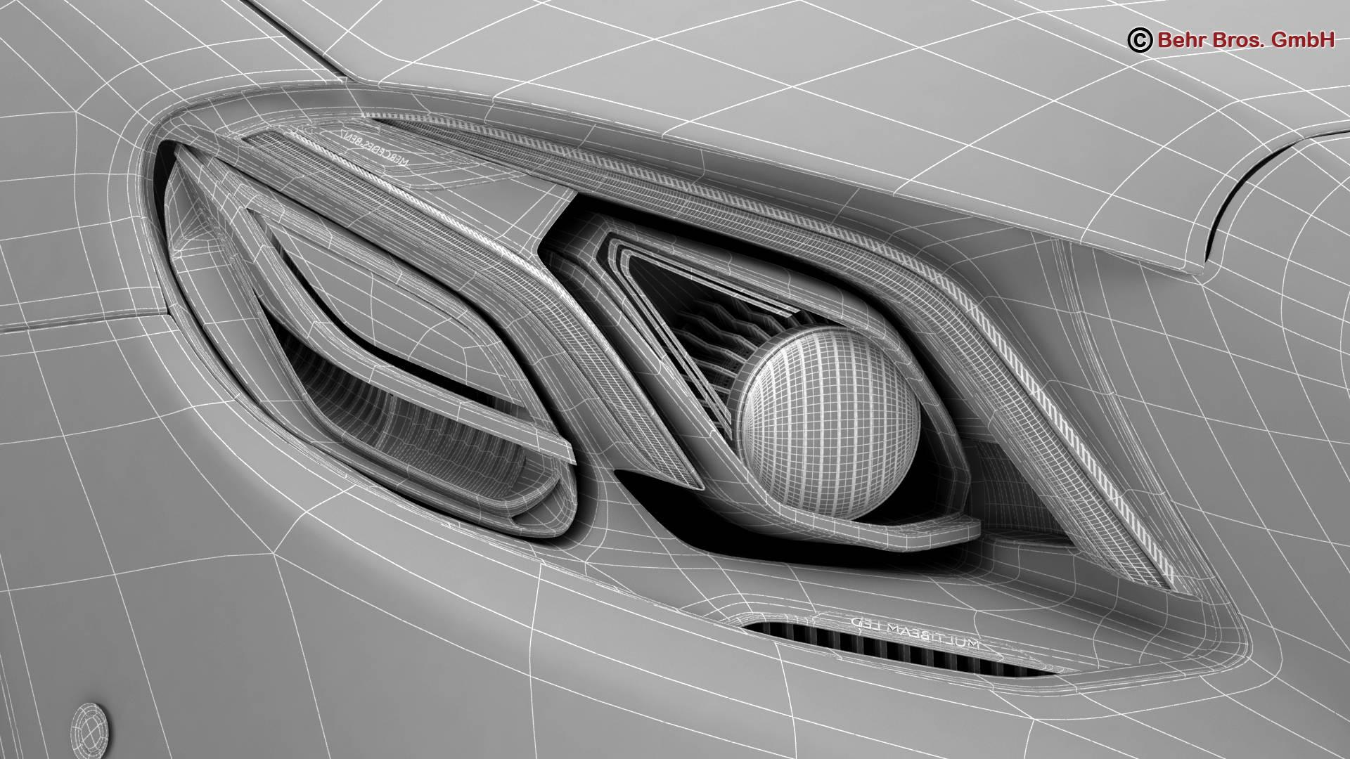 mercedes e class avantgarde 2017 3d model 3ds max fbx c4d lwo ma mb obj 221823