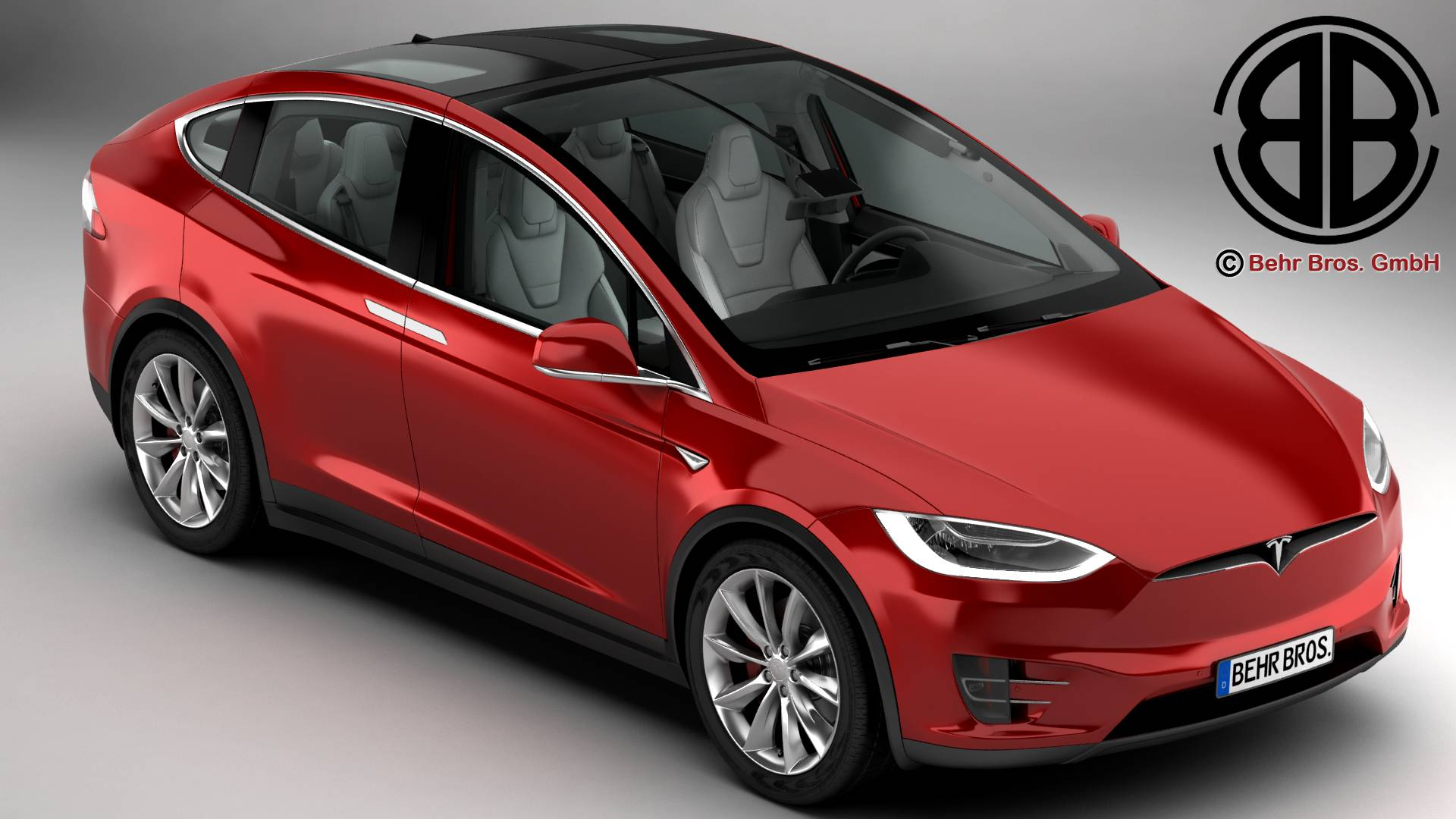 tesla model x 2017 3d model 3ds max fbx c4d lwo ma mb obj 221831