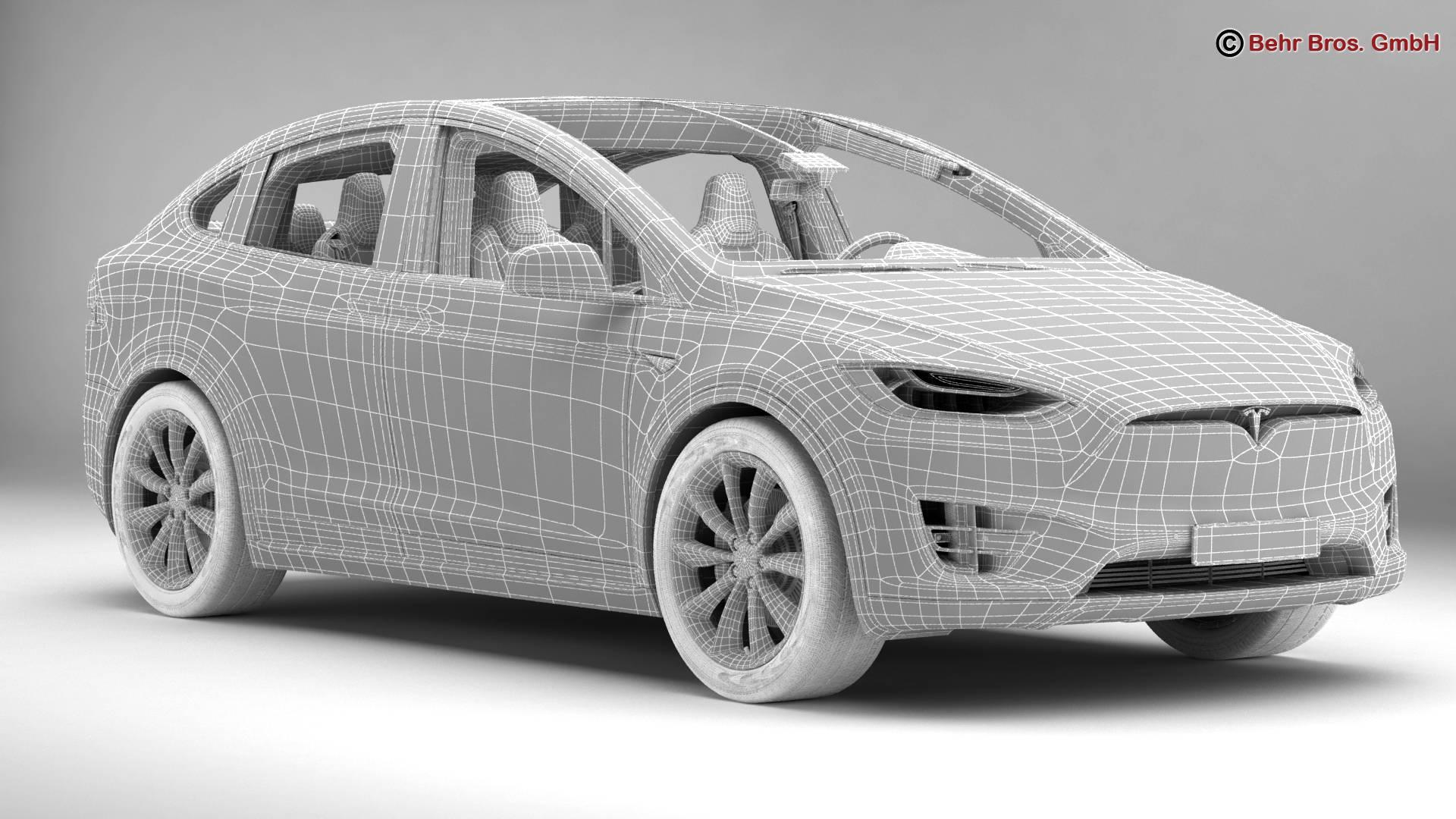 tesla model x 2017 3d model 3ds max fbx c4d lwo ma mb obj 221847