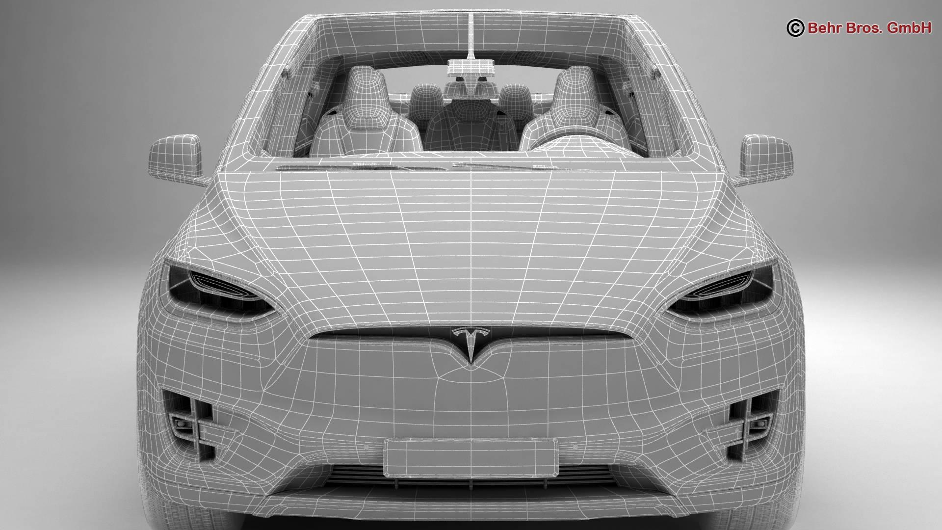 Tesla Model X 2017 3D Model - FlatPyramid