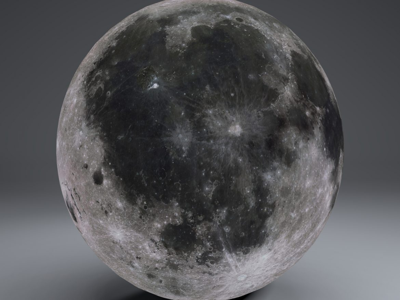 MoonGlobe 8k 3d model 0