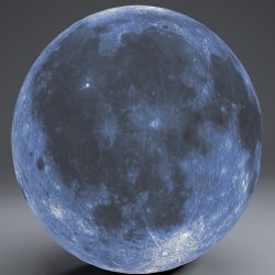 Blue MoonGlobe 11k 3d model 0