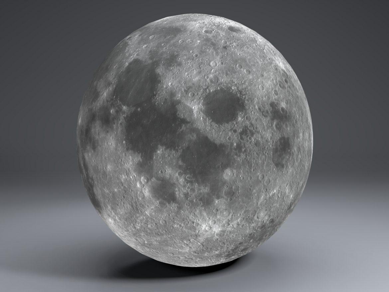 Moon Globe 11k 3d model 3ds fbx blend dae obj