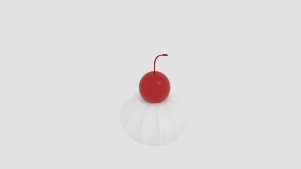 cherry cream 3d model blend 221937