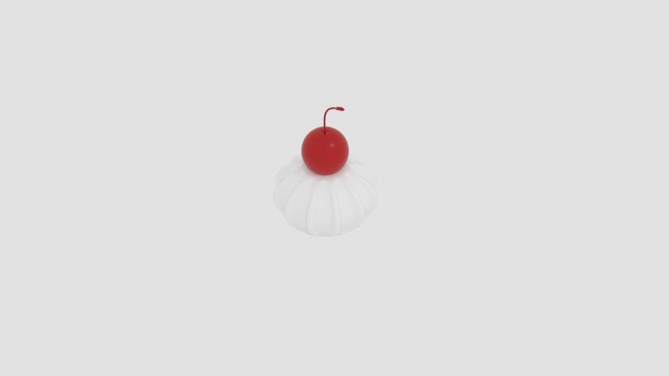 cherry cream 3d model blend 221940