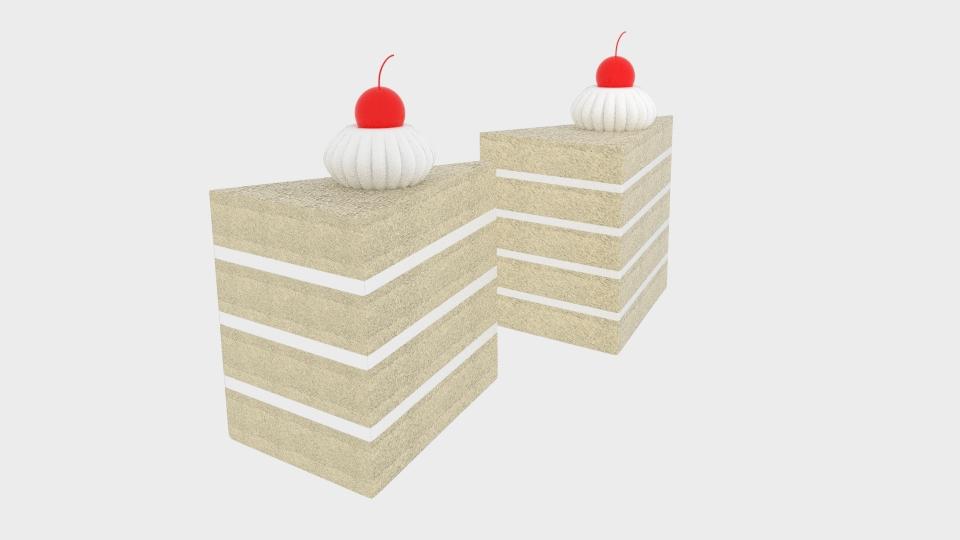 cherry cake 3d model blend 221952