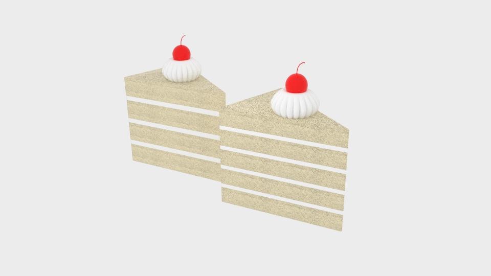 cherry cake 3d model blend 221954
