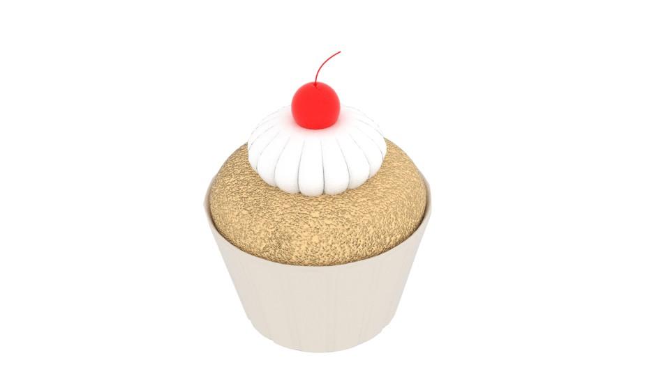cherry cupcake 3d model blend 221958