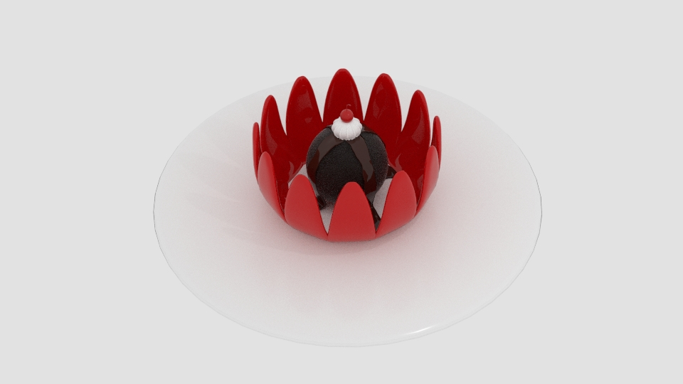 cream desert chocolate 3d model blend 221965