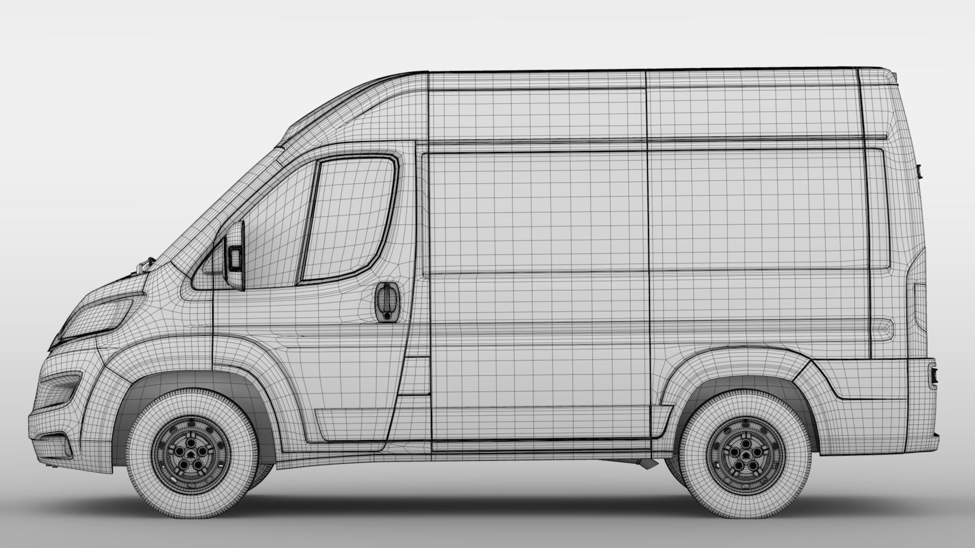 citroen jumper van l1h2 2017 3d model flatpyramid. Black Bedroom Furniture Sets. Home Design Ideas