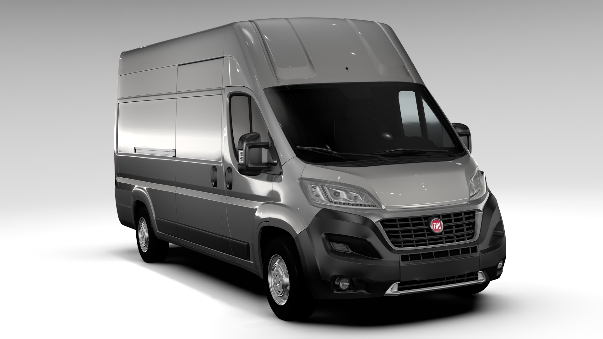 fiat ducato van l4h3 2017 3d model flatpyramid. Black Bedroom Furniture Sets. Home Design Ideas