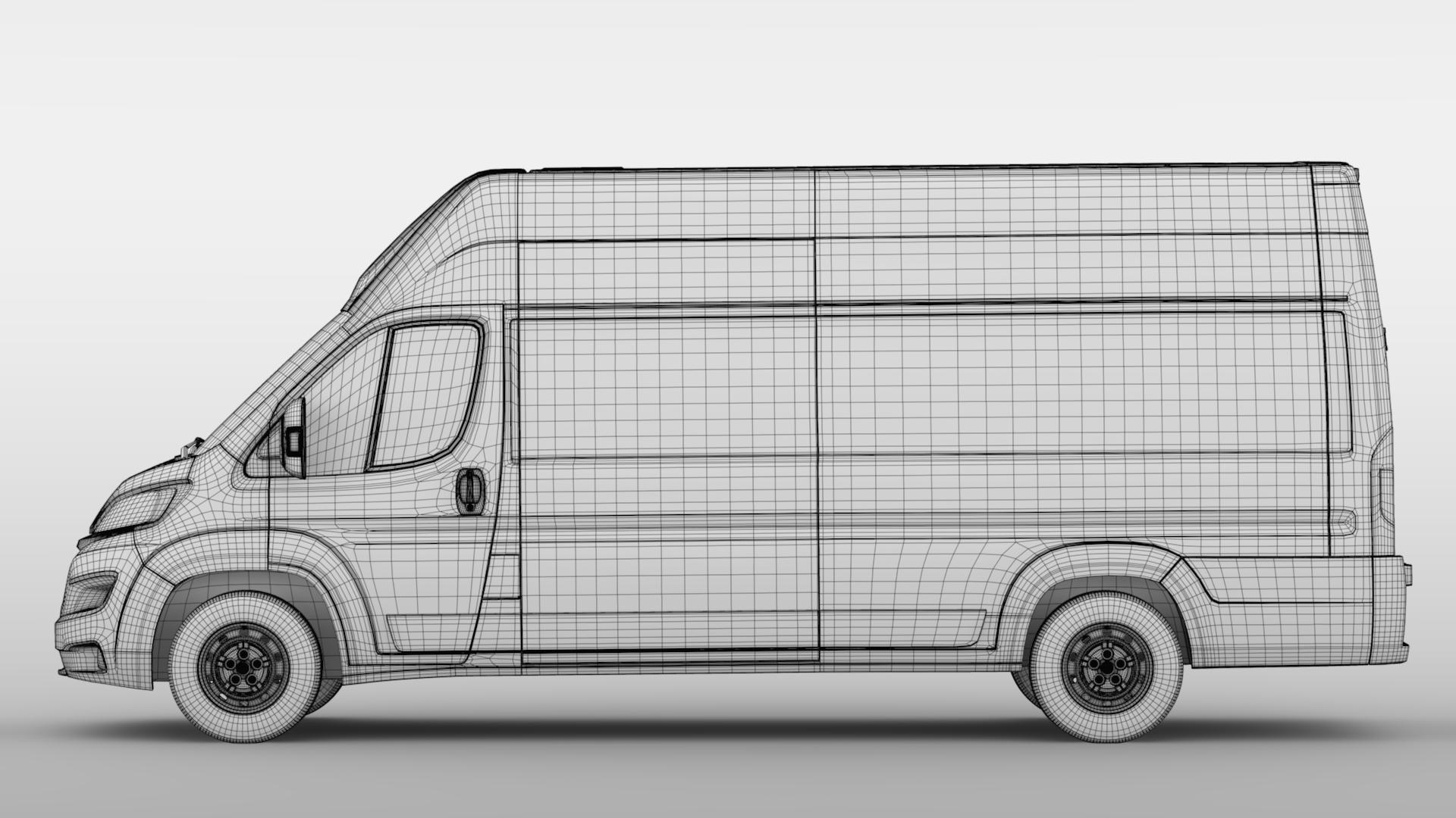 fiat ducato van l4h3 2017 3d model. Black Bedroom Furniture Sets. Home Design Ideas