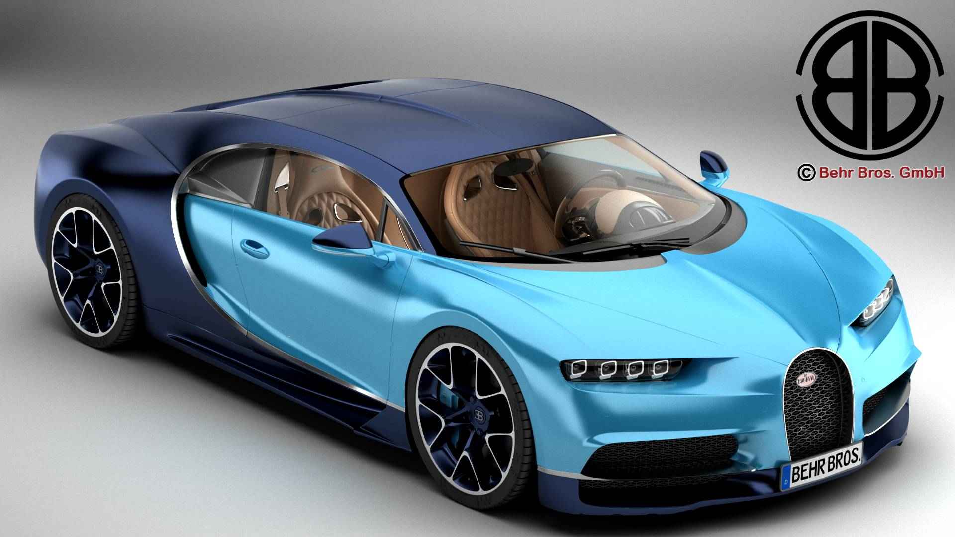 bugatti chiron 2017 modèle 3d 3ds max fbx c4d lwo ma mb obj 222106
